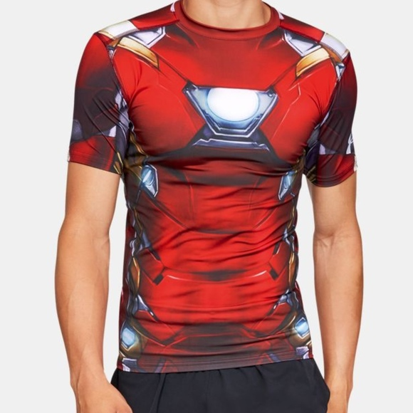 093d18b8 NEW Under Armour Iron Man Compression Shirt Youth.  M_5be1e654aaa5b81a06380659
